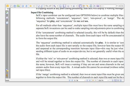 لقطة شاشة لملف PDF ثابت